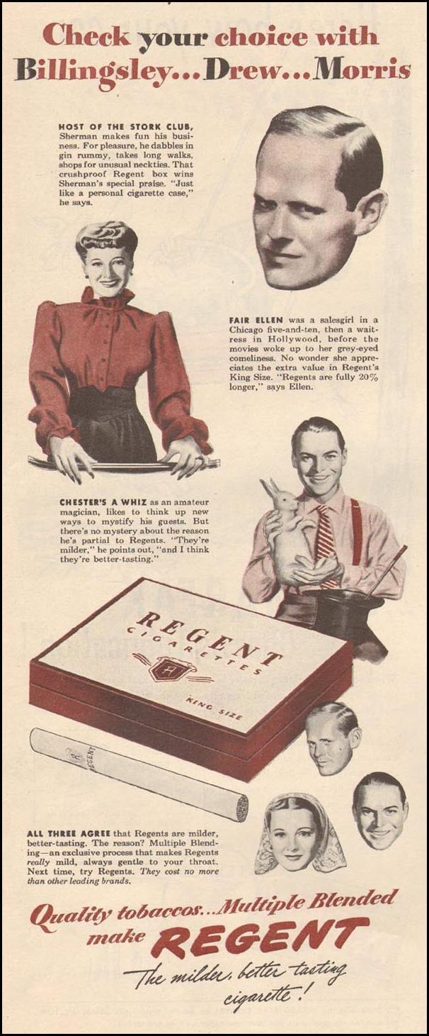 REGENT CIGARETTES LIFE 06/04/1945 p. 120