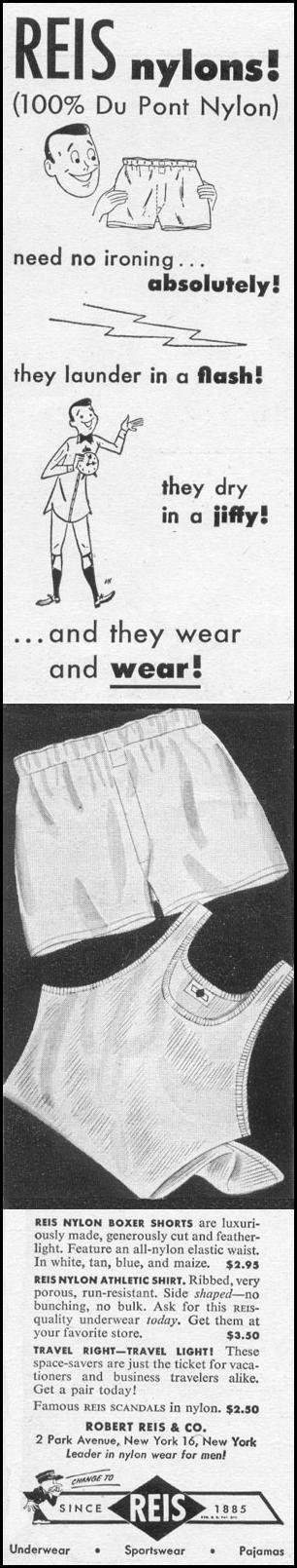 MEN'S NYLON UNDERWEAR LIFE 06/05/1950 p. 128