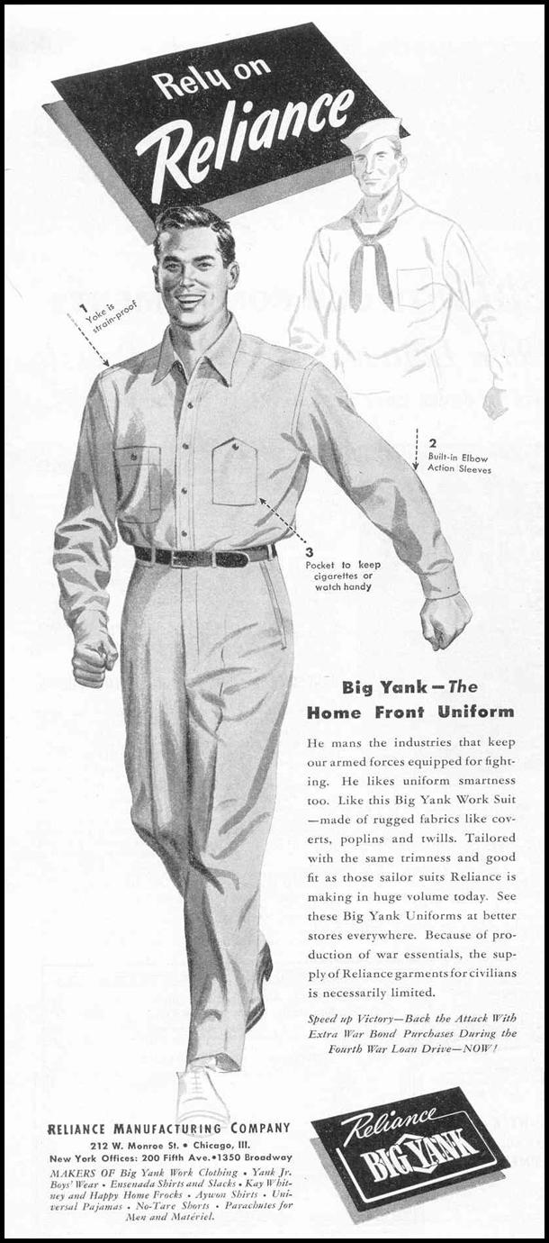 BIG YANK WORK CLOTHING LIFE 02/14/1944 p. 48
