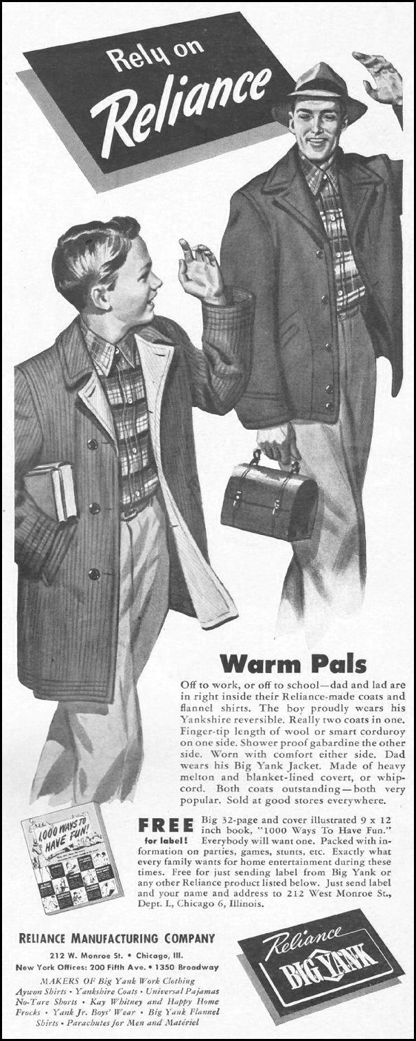 BIG YANK WORK CLOTHING LIFE 10/25/1943 p. 17