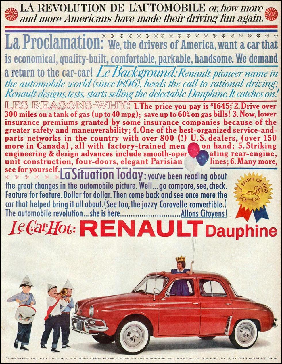 RENAULT DAUPHINE BETTER HOMES AND GARDENS 03/01/1960 p. 175