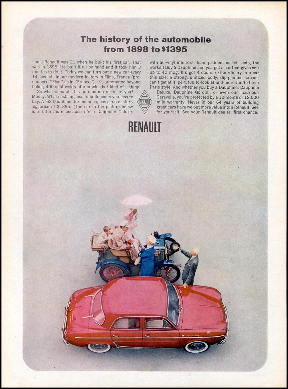 RENAULT AUTOMOBILES TIME 07/13/1962 p. 60