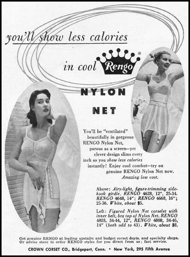 RENGO NYLON NET LINGERIE LADIES' HOME JOURNAL 07/01/1949 p. 111