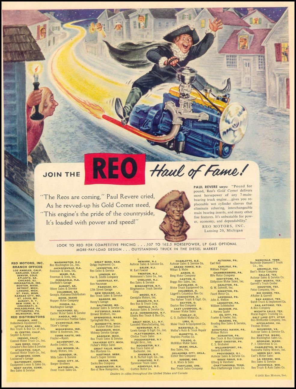 REO GOLD COMET TRUCK ENGINES LIFE 04/13/1953 p. 121