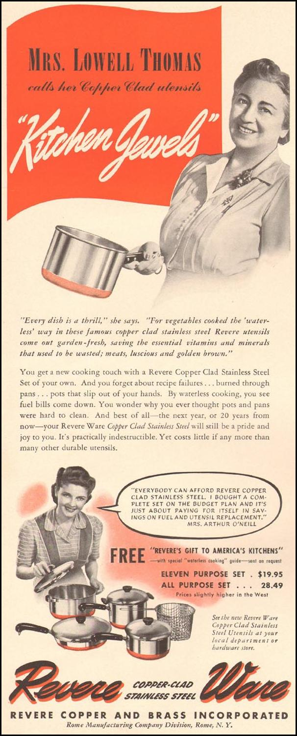 REVERE WARE COOKWARE LIFE 09/16/1940 p. 46