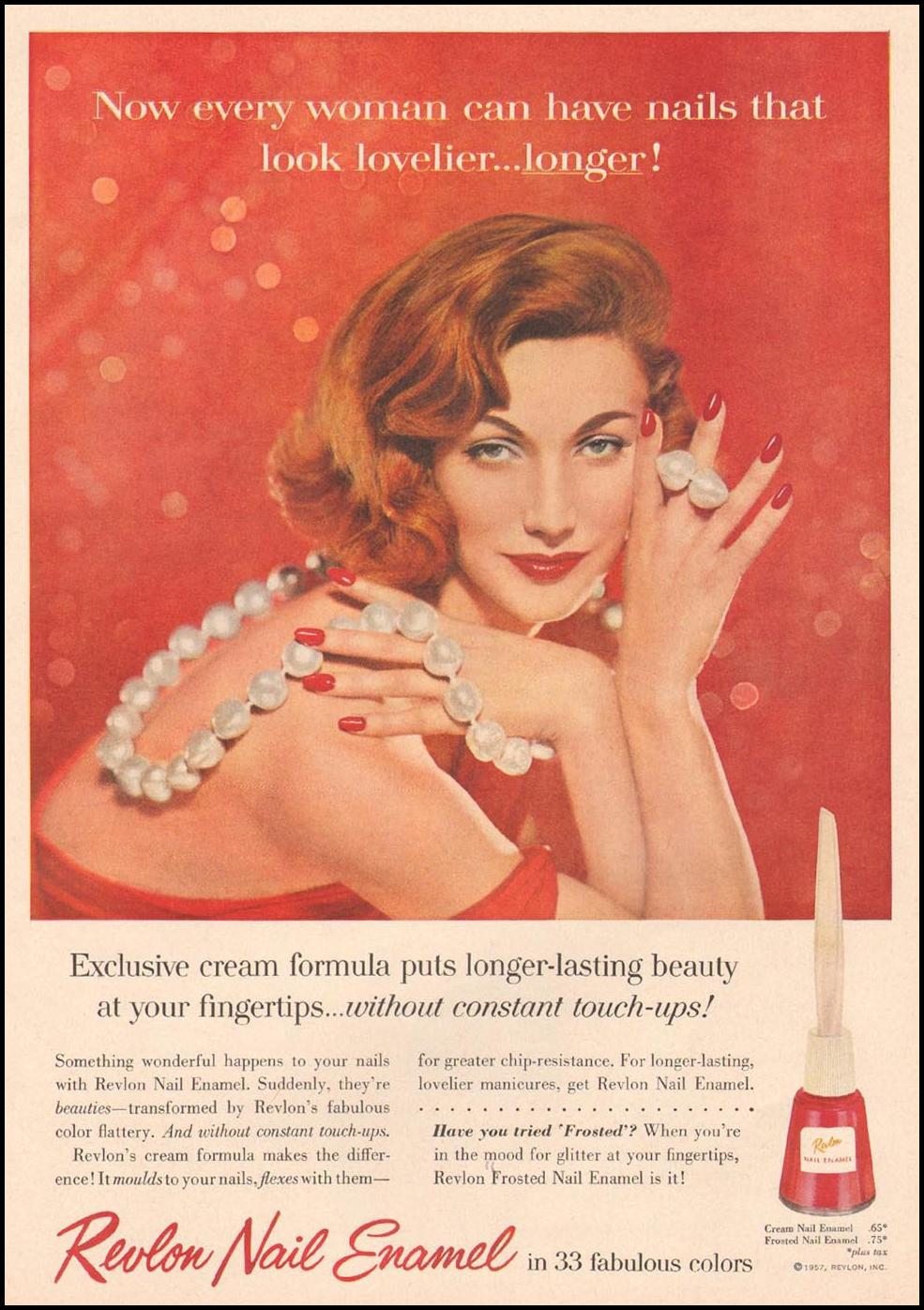 REVLON NAIL ENAMEL GOOD HOUSEKEEPING 05/01/1957 p. 25