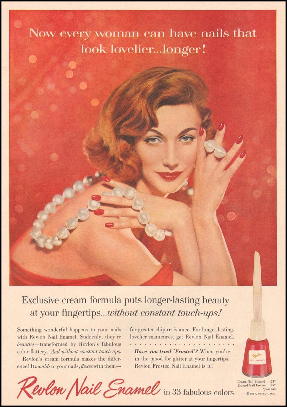 REVLON NAIL ENAMEL GOOD HOUSEKEEPING 05/01/1957 p. 25