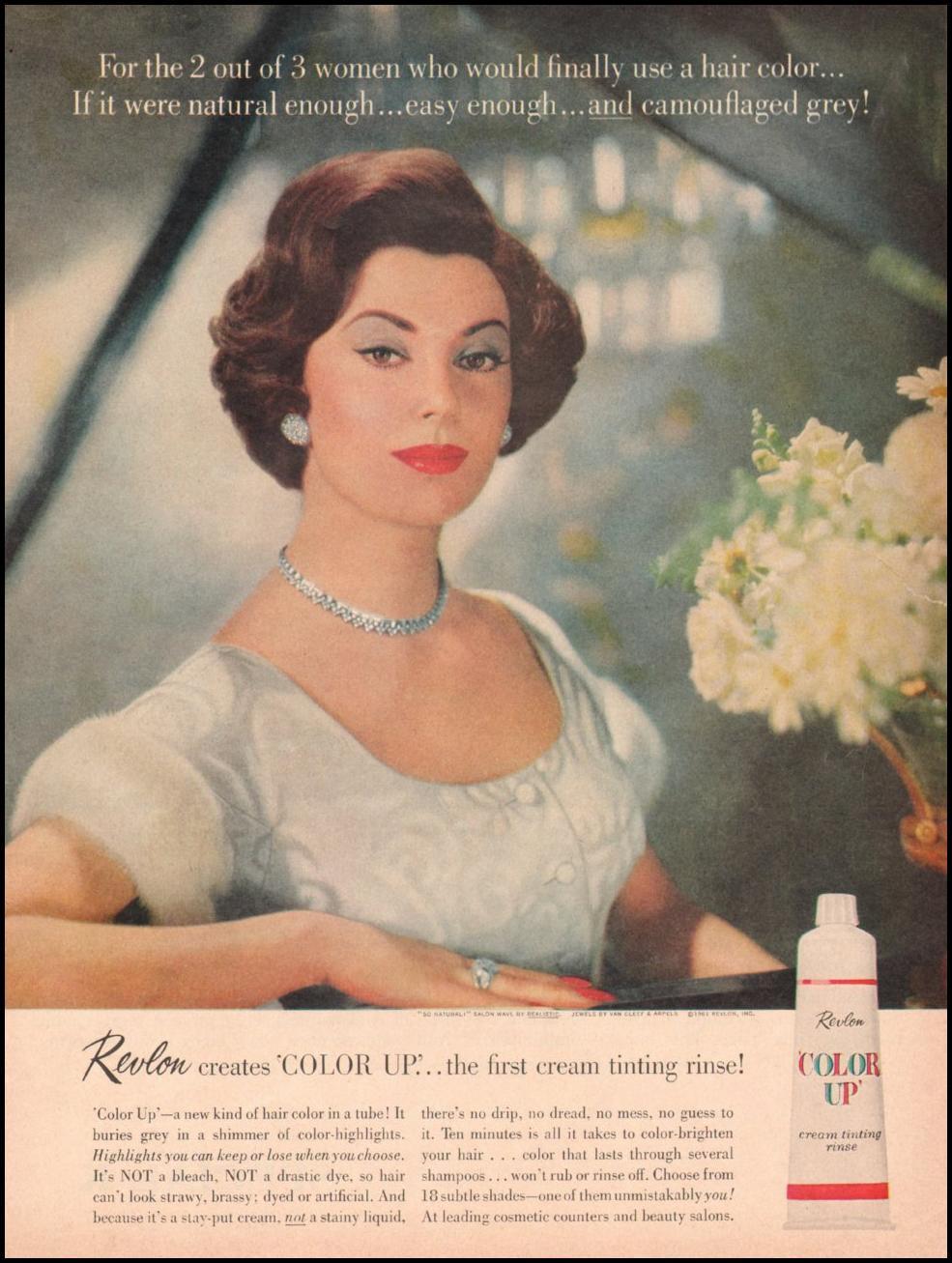 REVLON COLOR-UP CREAM TINTING RINSE LIFE 05/05/1961