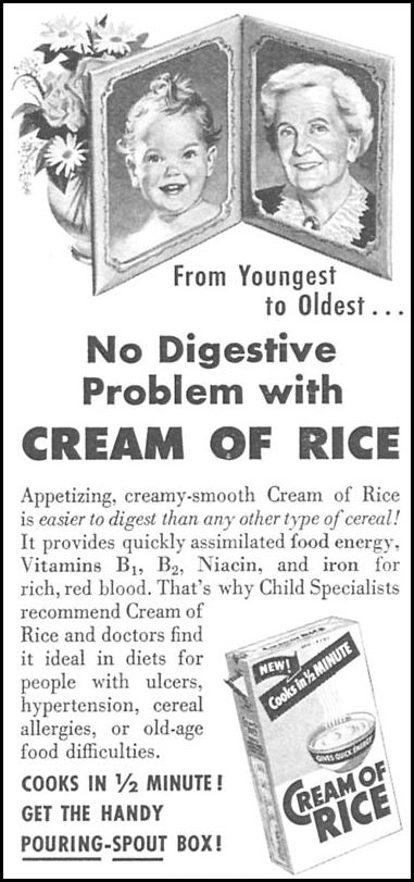 CREAM OF RICE WOMAN'S DAY 04/01/1956 p. 116