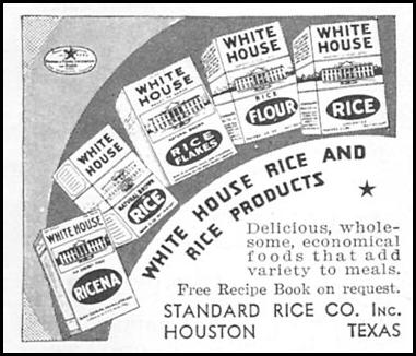 WHITE HOUSE RICE GOOD HOUSEKEEPING 12/01/1934 p. 195