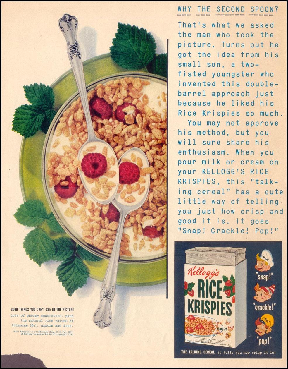 KELLOGG'S RICE KRISPIES LIFE 07/30/1951 p. 10