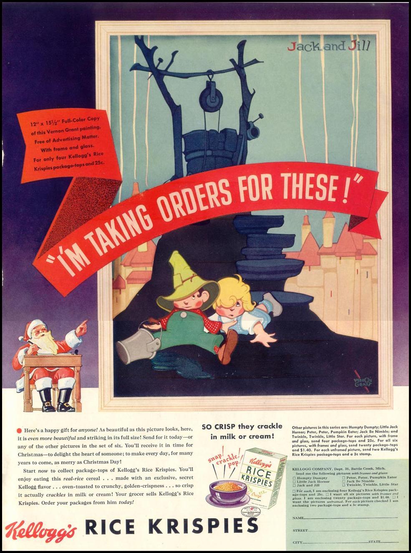 KELLOGG'S RICE KRISPIES LIFE 12/12/1938