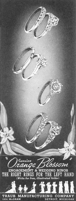 ENGAGEMENT AND WEDDING RINGS LIFE 11/02/1942 p. 100