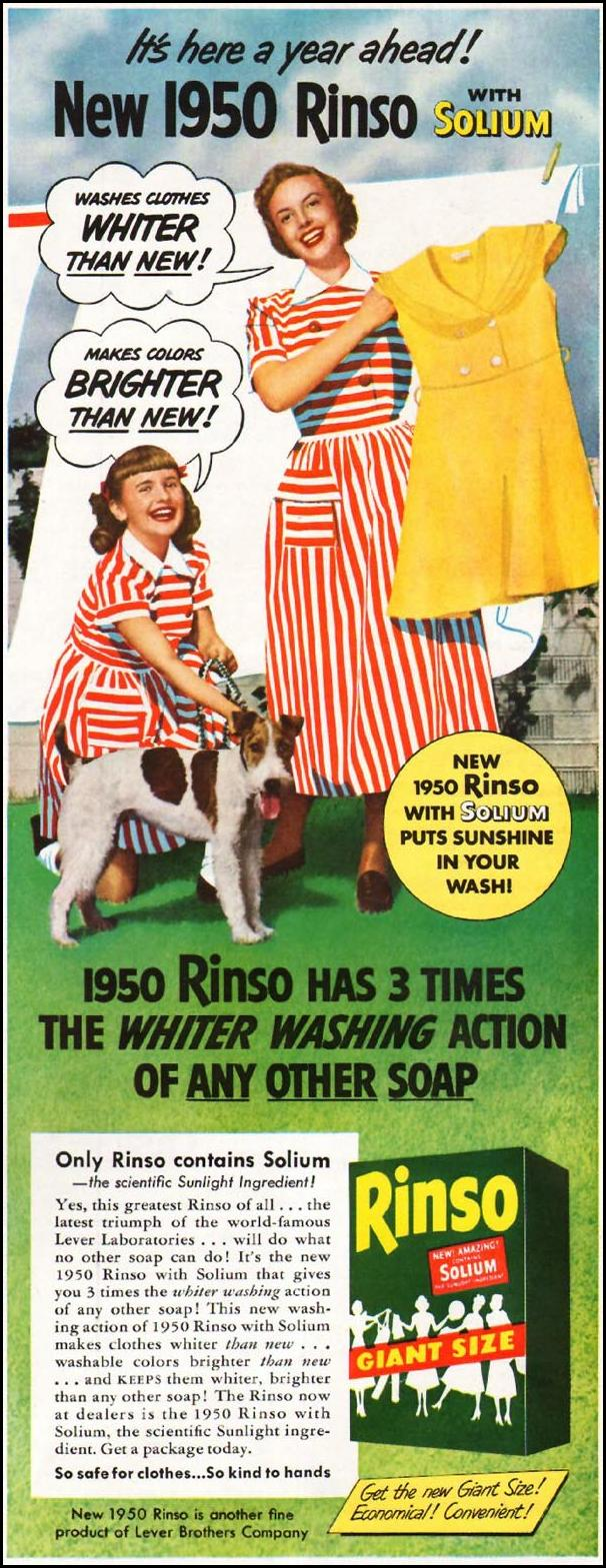 RINSO LADIES' HOME JOURNAL 07/01/1949 p. 125