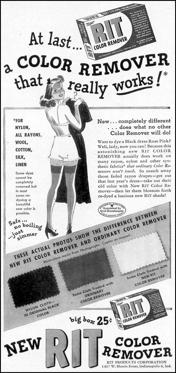 RIT COLOR REMOVER WOMAN'S DAY 05/01/1949 p. 95