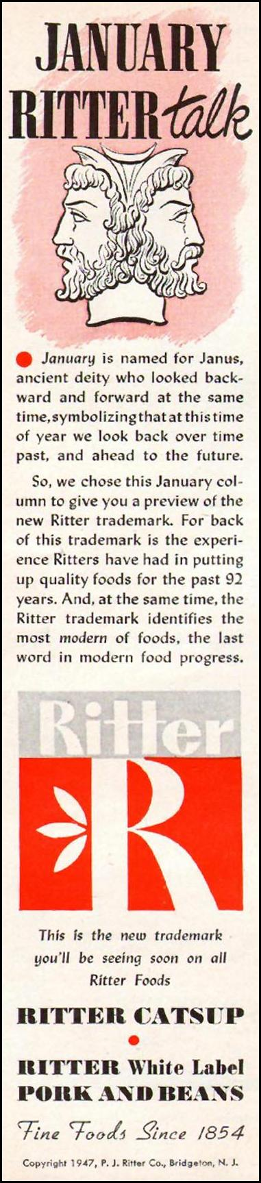 RITTER CATSUP WOMAN'S DAY 01/01/1947 p. 14