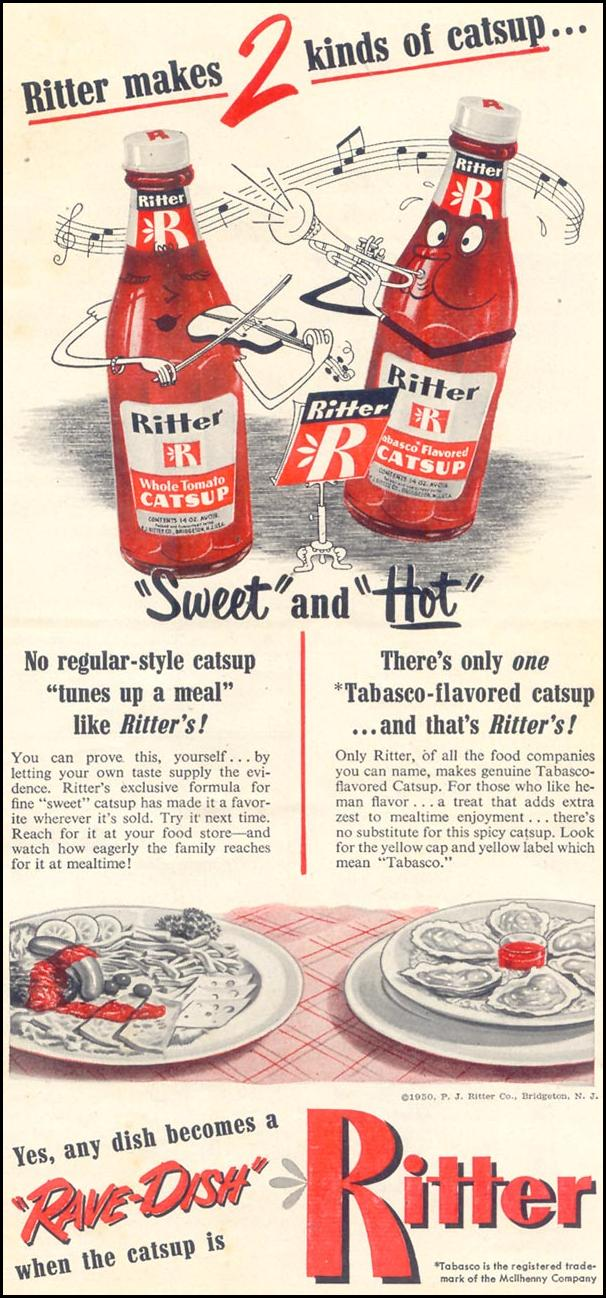 RITTER CATSUP WOMAN'S DAY 05/01/1950 p. 143
