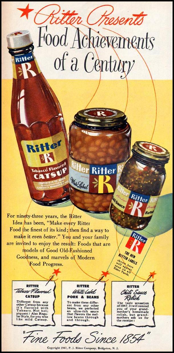 RITTER FOODS WOMAN'S DAY 06/01/1947 p. 62