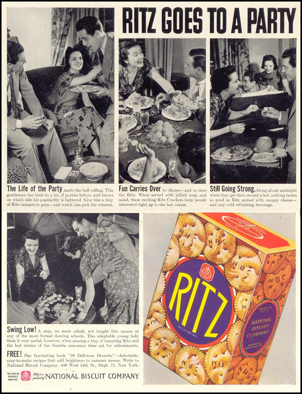 RITZ CRACKERS LIFE 07/26/1937