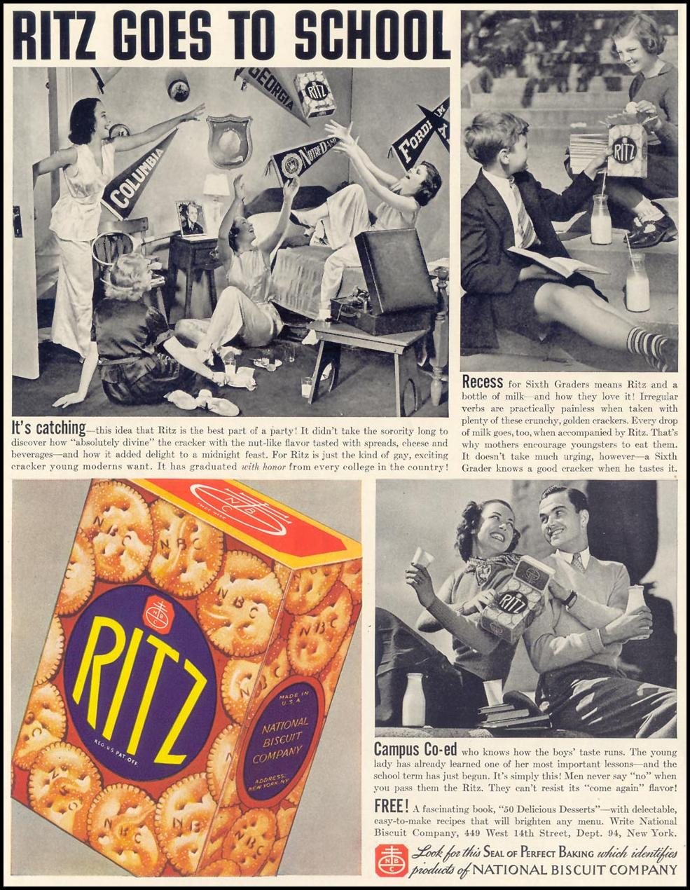 RITZ CRACKERS LIFE 09/20/1937 p. 54