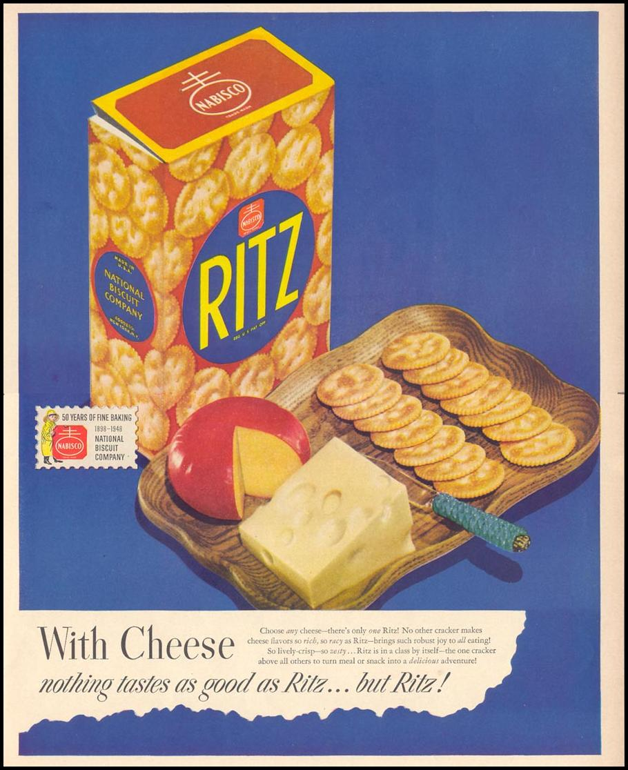 NABISCO RITZ CRACKERS LIFE 10/11/1948 p. 81
