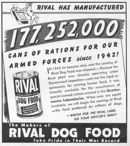 RIVAL DOG FOOD WOMAN'S DAY 11/01/1945 p. 111
