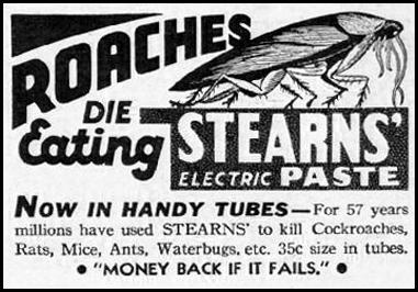 STEARNS' ELECTRIC PASTE GOOD HOUSEKEEPING 12/01/1935 p. 193