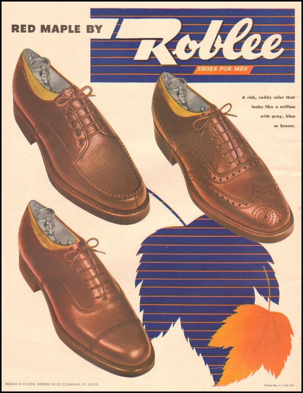 ROBLEE SHOES FOR MEN LIFE 11/25/1946