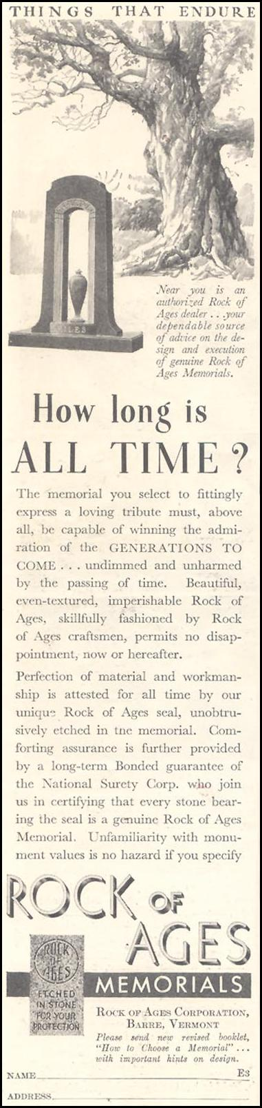 ROCK OF AGES MEMORIALS GOOD HOUSEKEEPING 03/01/1935 p. 196