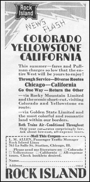 RAIL TRAVEL NEWSWEEK 05/04/1935 p. 34