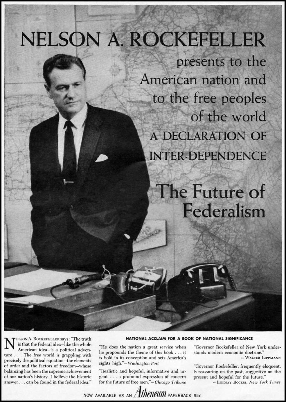 THE FUTURE OF FEDERALISM TIME 10/04/1963 p. 3