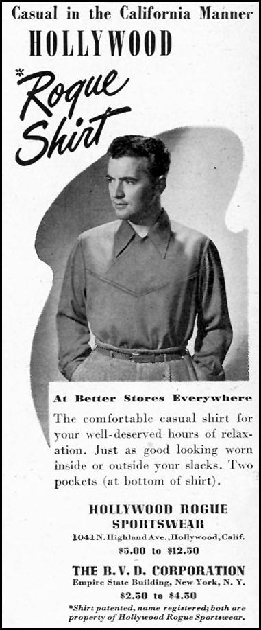 HOLLYWOOD ROGUE SPORTSWEAR LIFE 02/28/1944 p. 4