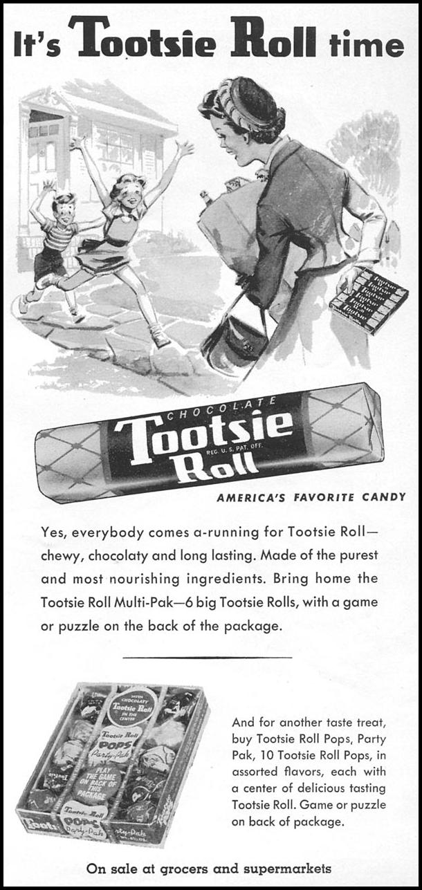 TOOTSIE ROLL WOMAN'S DAY 09/01/1955 p. 99