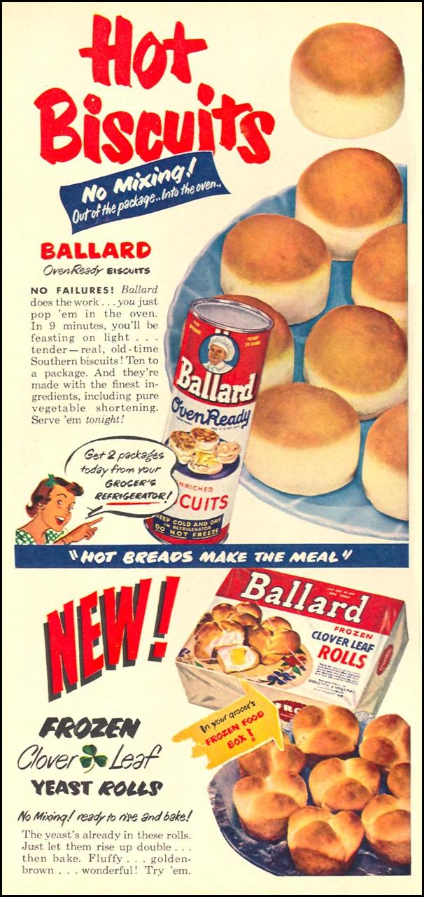 BALLARD OVEN READY BISCUITS WOMAN'S DAY 10/01/1949 p. 82