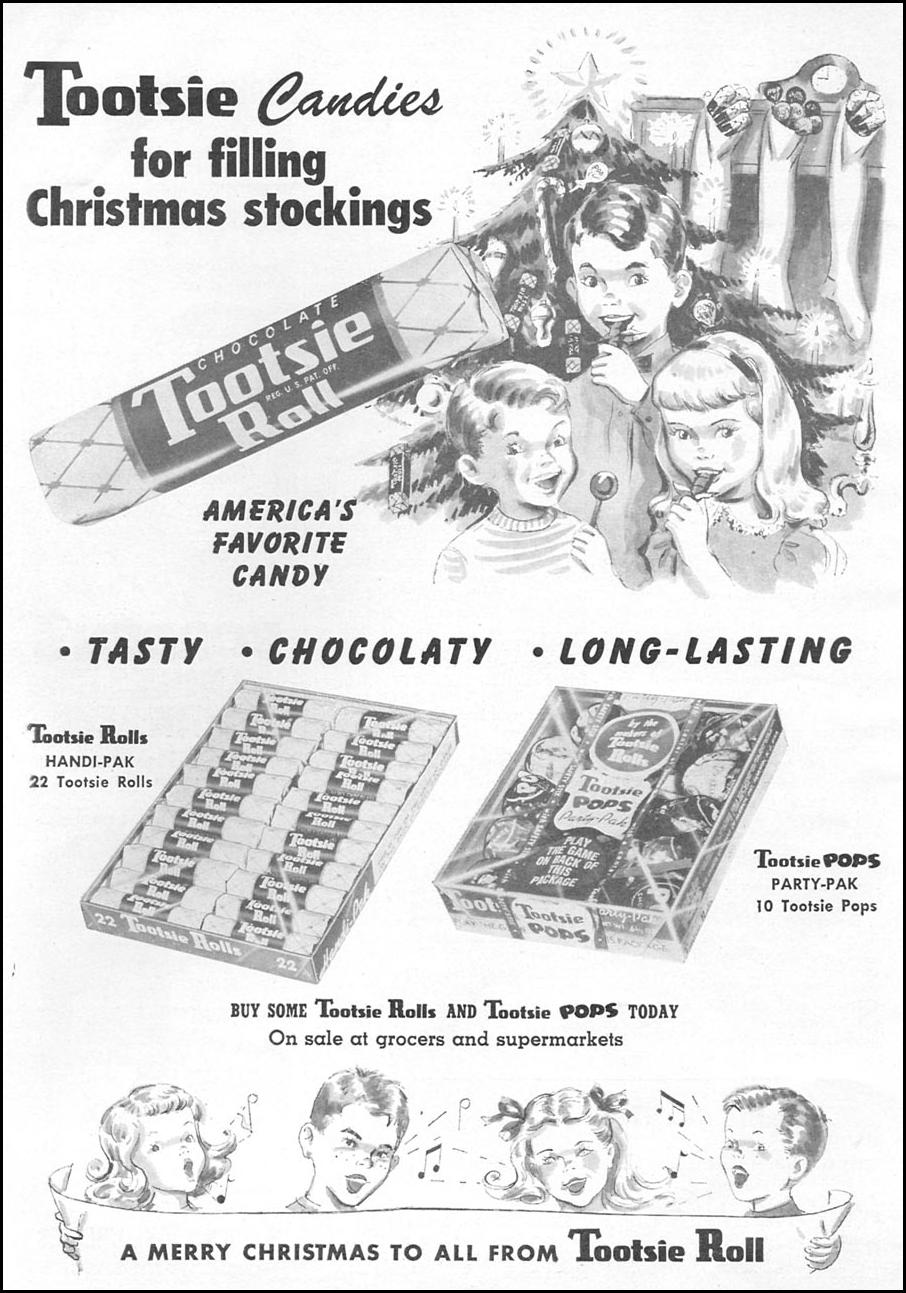TOOTSIE ROLL WOMAN'S DAY 12/01/1954 p. 108