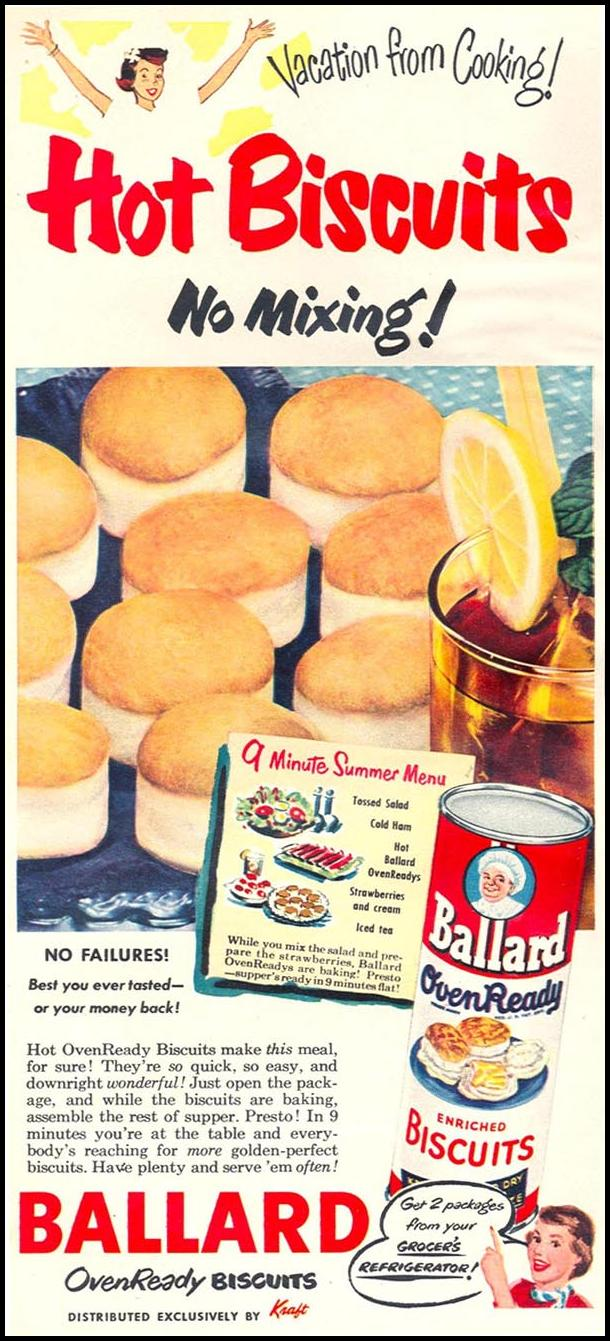 BALLARD OVENREADY BISCUITS WOMAN'S DAY 06/01/1950 p. 14