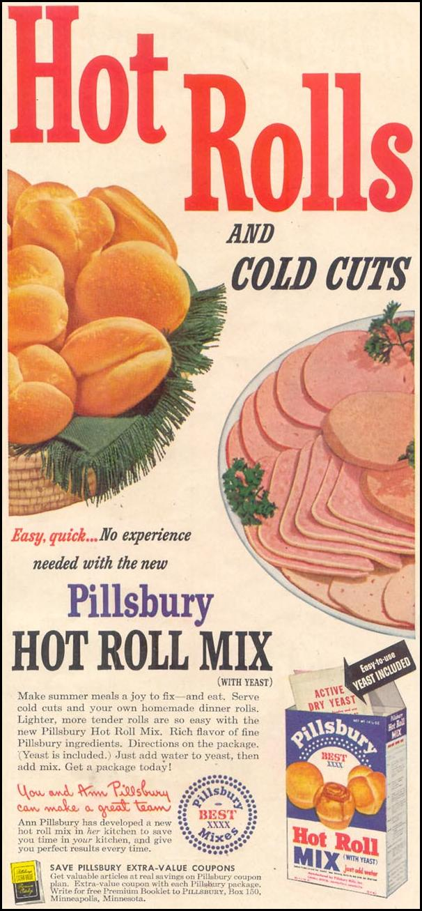 PILLSBURY HOT ROLL MIX GOOD HOUSEKEEPING 07/01/1949 p. 23
