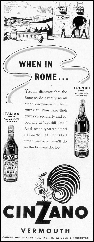 CINZANO VERMOUTH LIFE 09/20/1937 p. 99