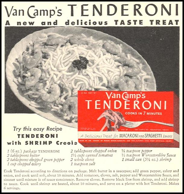 VAN CAMP'S TENDERONI WOMAN'S DAY 04/01/1943 p. 71
