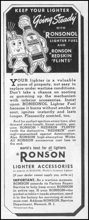 RONSON LIGHTER ACCESSORIES LIFE 11/02/1942 p. 16