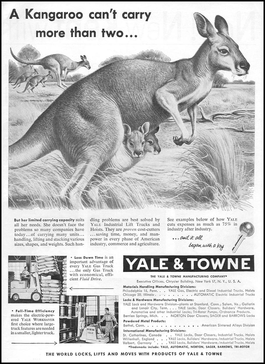 YALE INDUSTRIAL LIFTS & HOISTS TIME 06/08/1953 p. 51