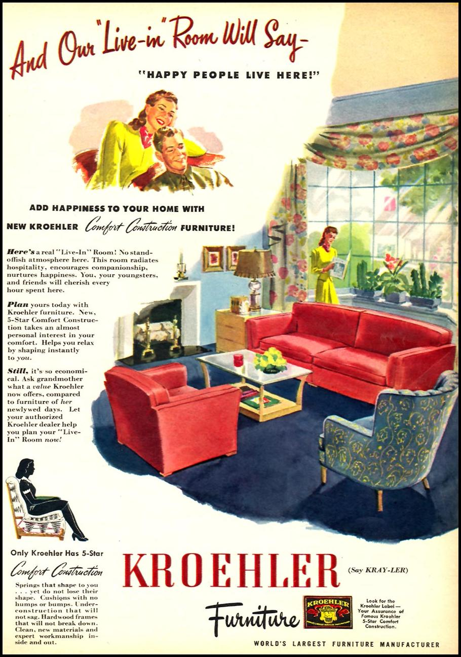 KROEHLER FURNITURE WOMAN'S DAY 09/01/1945 p. 9