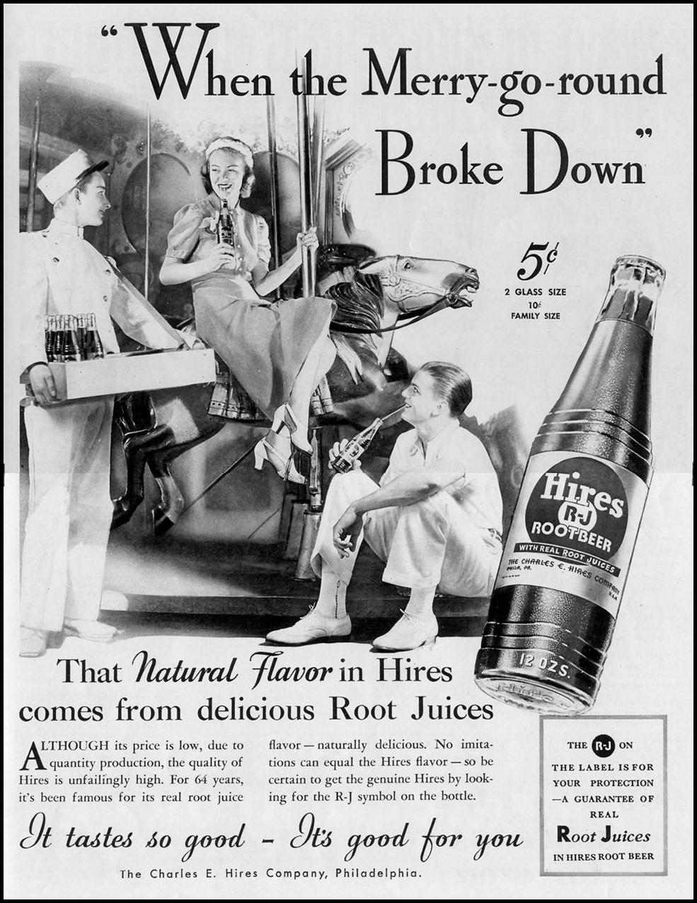 HIRES ROOT BEER LIFE 08/30/1937 p. 103