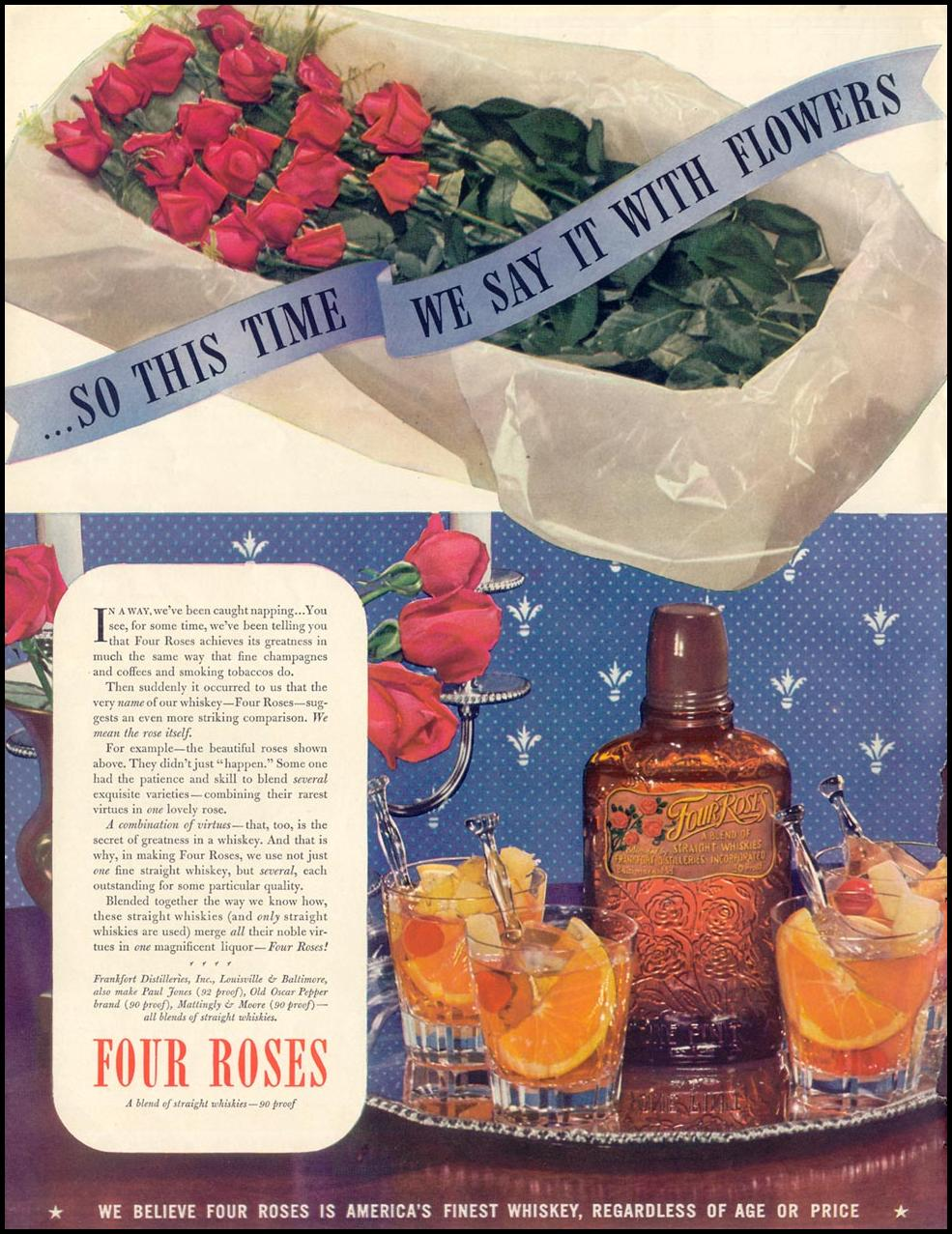 FOUR ROSES BLENDED WHISKEY LIFE 08/02/1937 p. 46