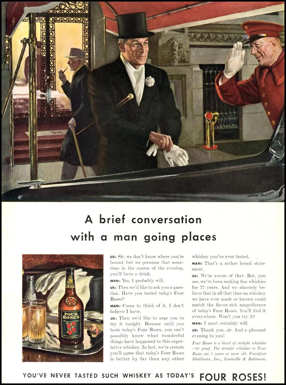 FOUR ROSES WHISKEY TIME 02/16/1942 p. 28