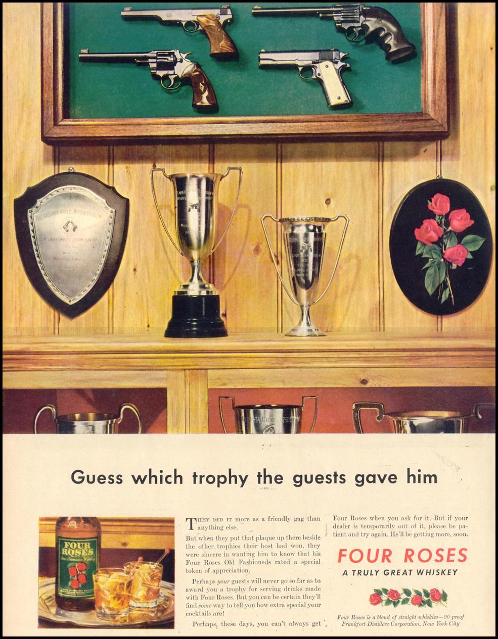 FOUR ROSES WHISKEY LIFE 02/21/1944