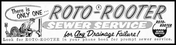 ROTO-ROOTER SEWAGE SERVICE SATURDAY EVENING POST 05/02/1959 p. 112