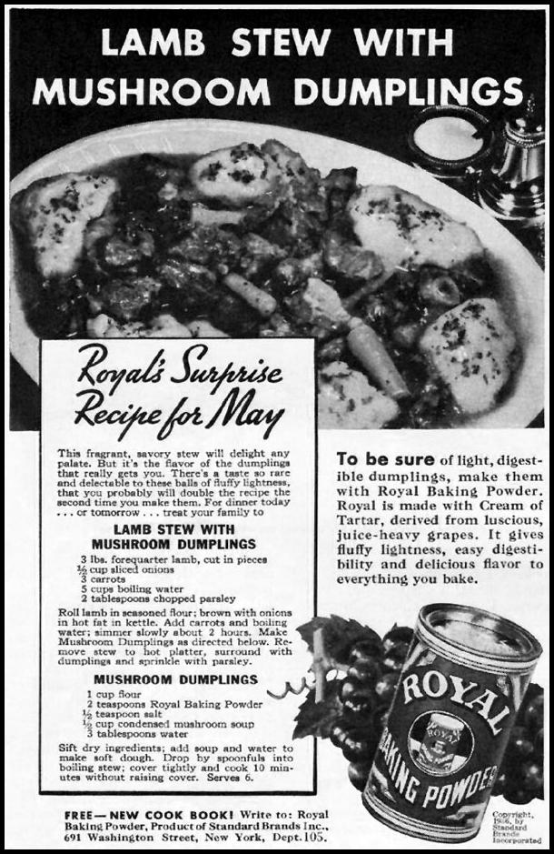 ROYAL BAKING POWDER BETTER HOMES AND GARDENS 05/01/1936 p. 80