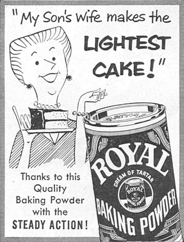 ROYAL BAKING POWDER FAMILY CIRCLE 02/01/1956 p. 84