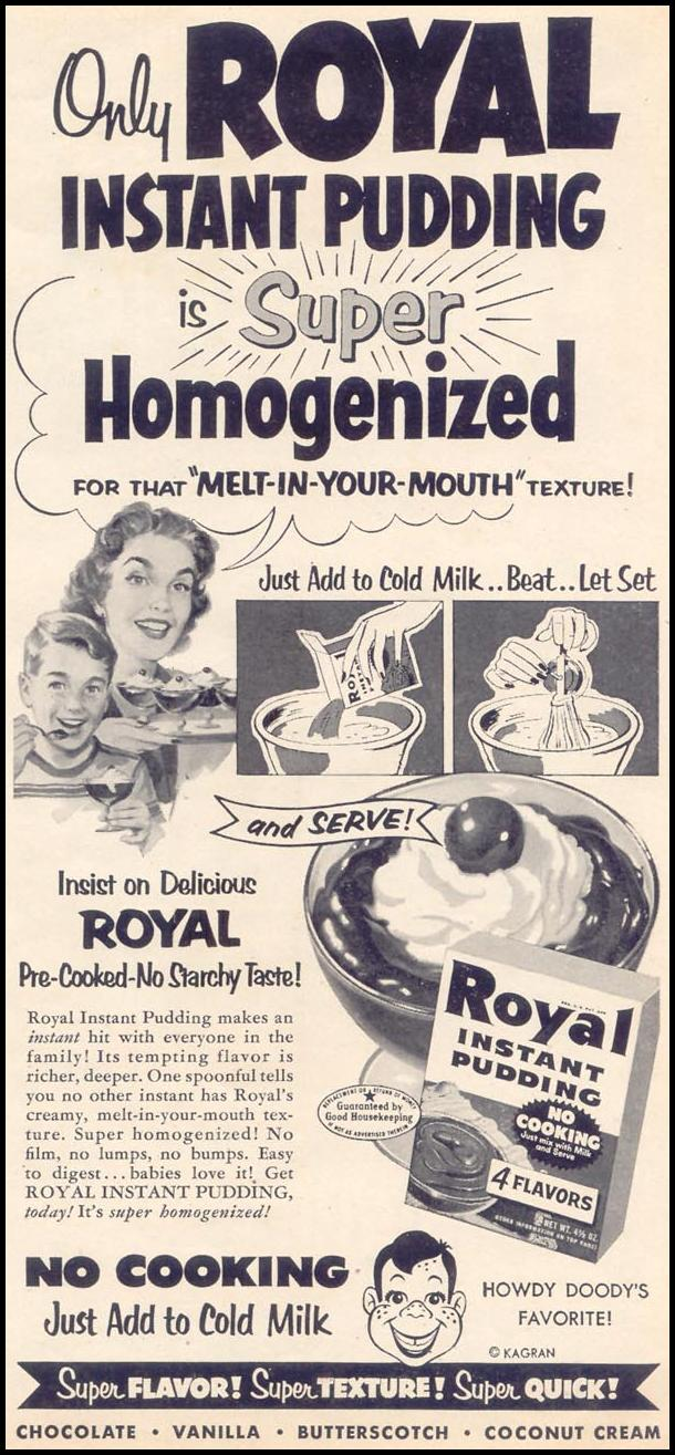 ROYAL PUDDING WOMAN'S DAY 03/01/1954 p. 15